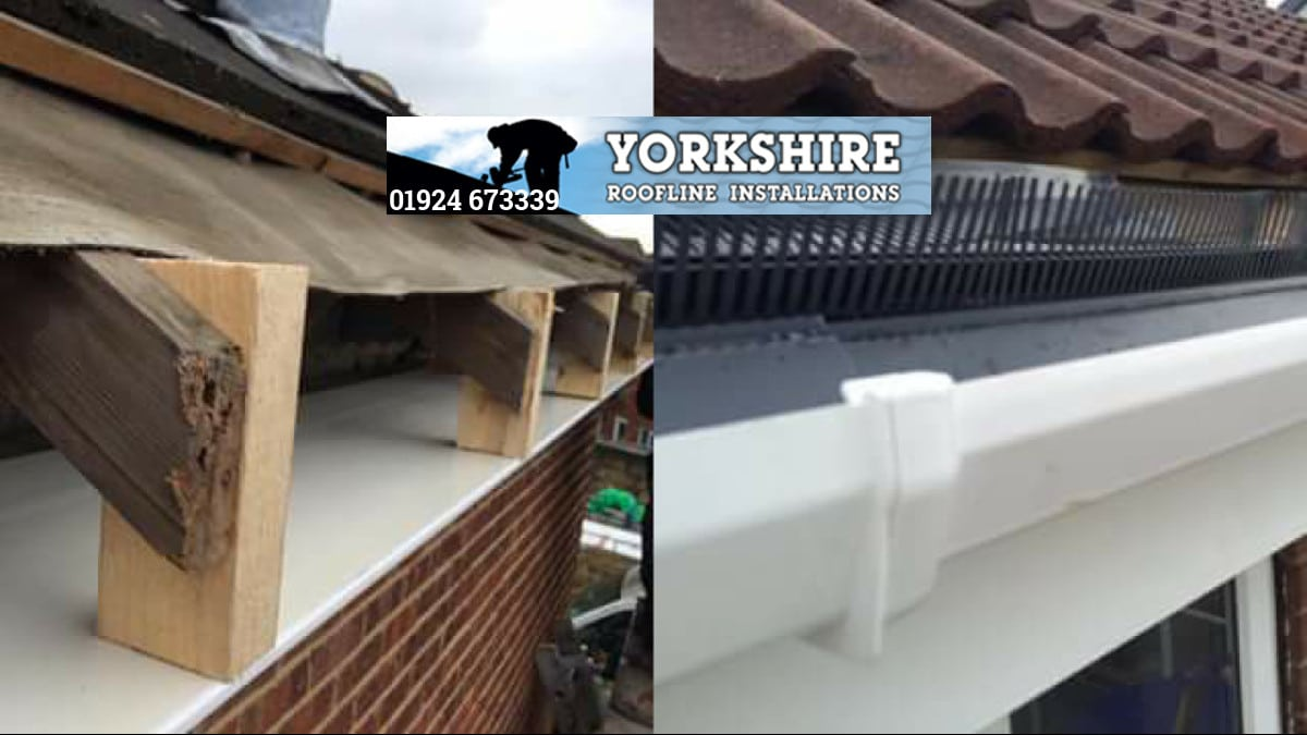 Fascias Soffits And Guttering Replaced Before And After Normanton Wakefield