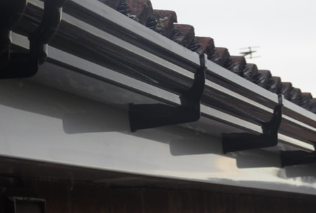 Deep Flow Guttering In Black