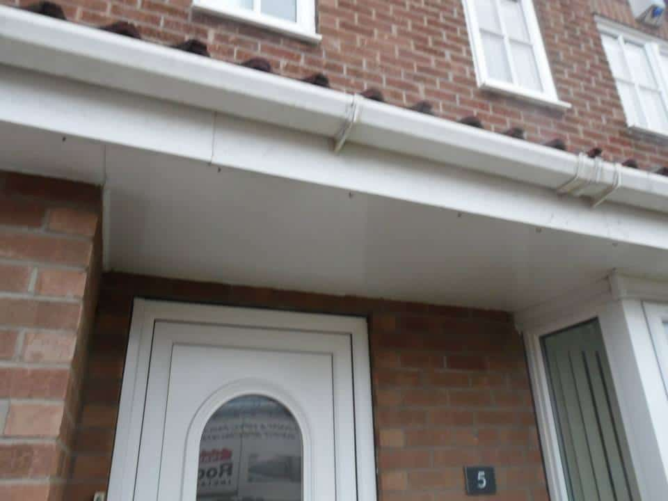 uPVC fascia boards used on the porch roof as well.